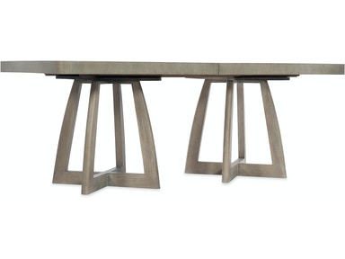 6050 75206 GRY Affinity 78in Rectangle Pedestal Dining Table