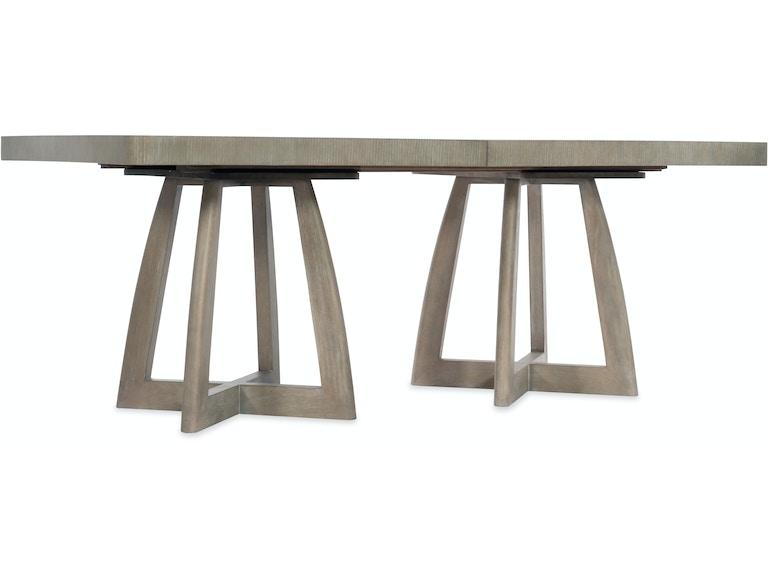 hooker furniture dining room affinity 78in rectangle pedestal dining table w 2 18in leaves 6050. Black Bedroom Furniture Sets. Home Design Ideas