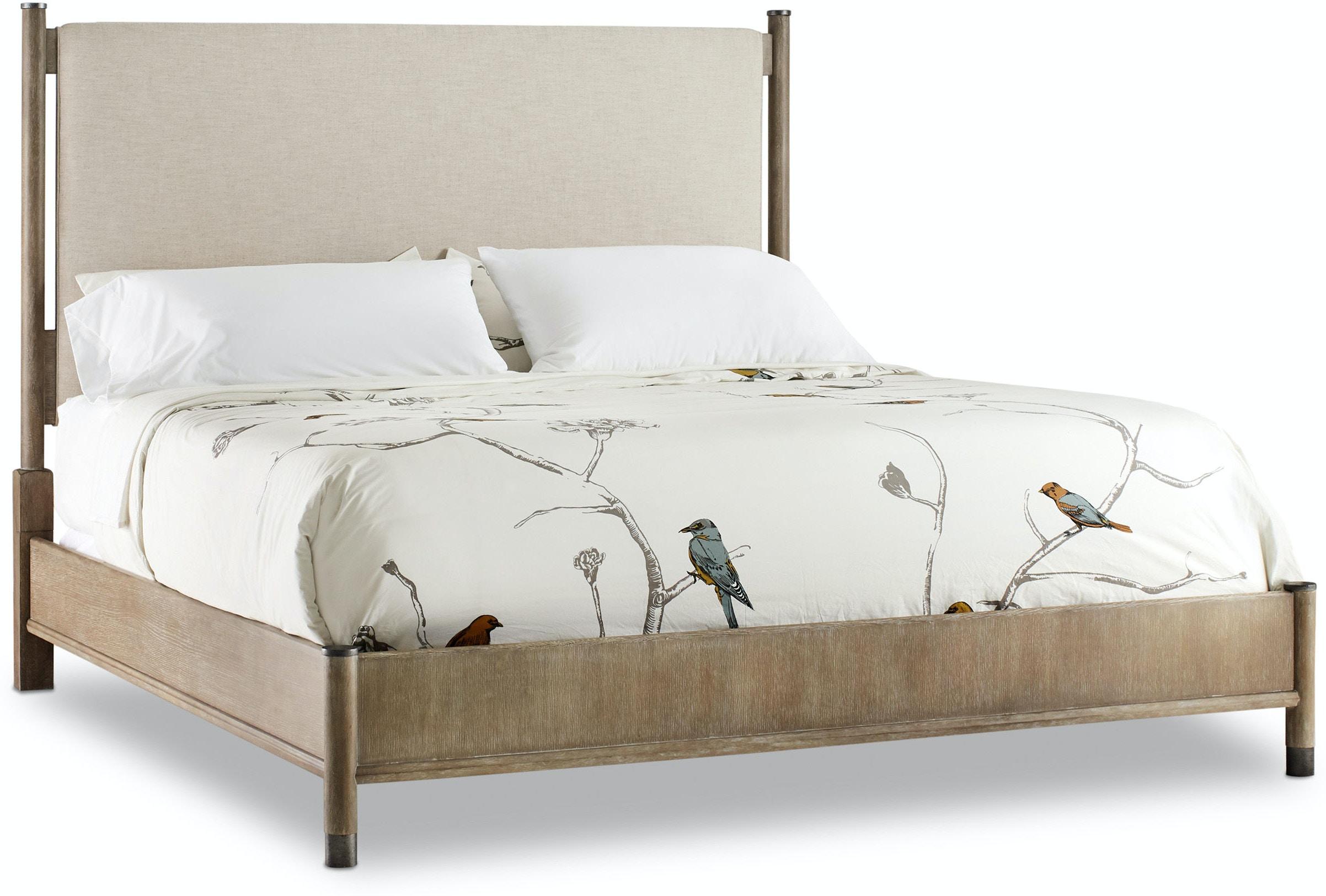 Hooker Furniture Bedroom Affinity King Upholstered Bed HS605090966GRY  Walter E. Smithe Furniture + Design