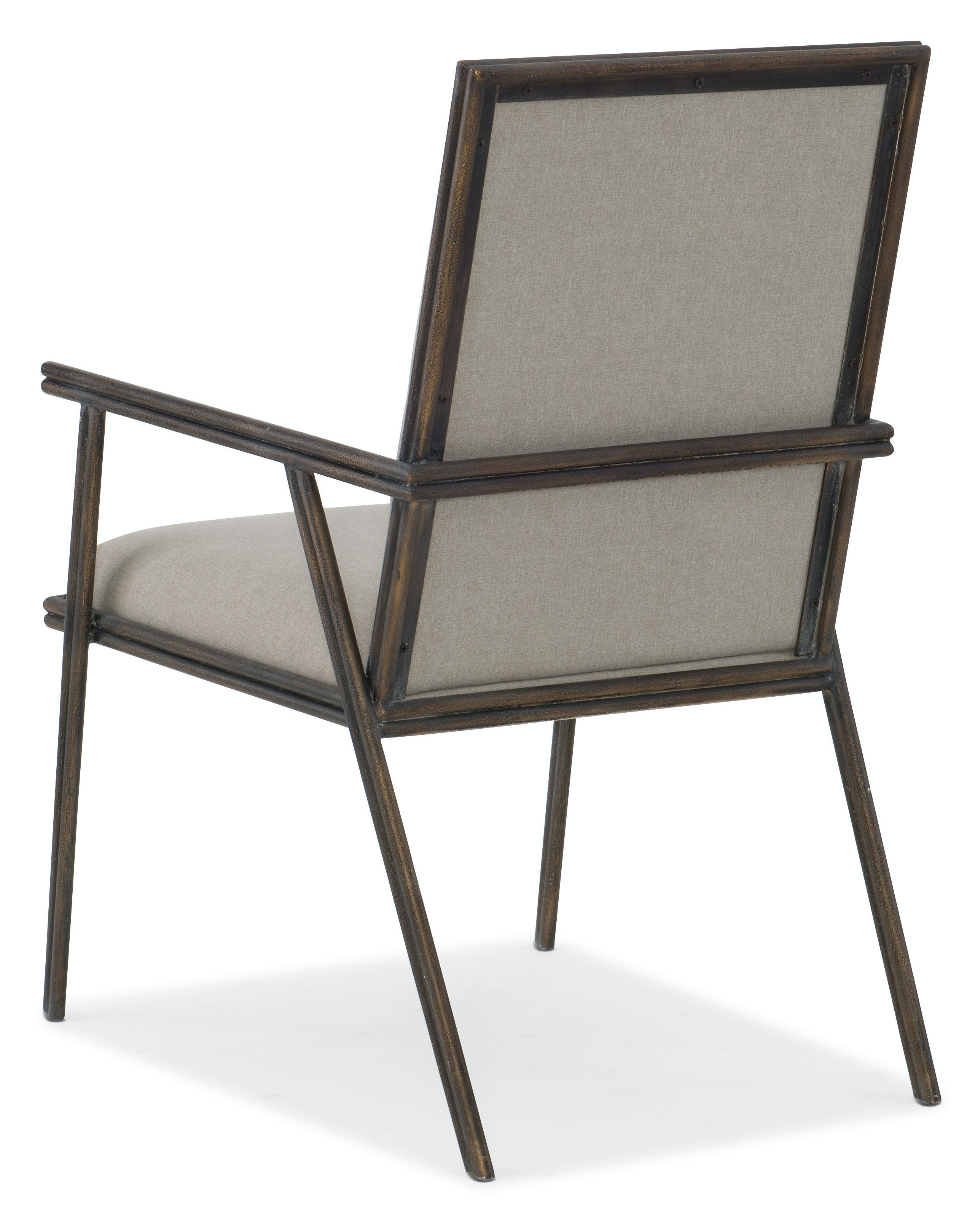 Hooker Furniture Miramar Carmel Fairview Metal Upholstered Arm Chair  6200 75401 GRY