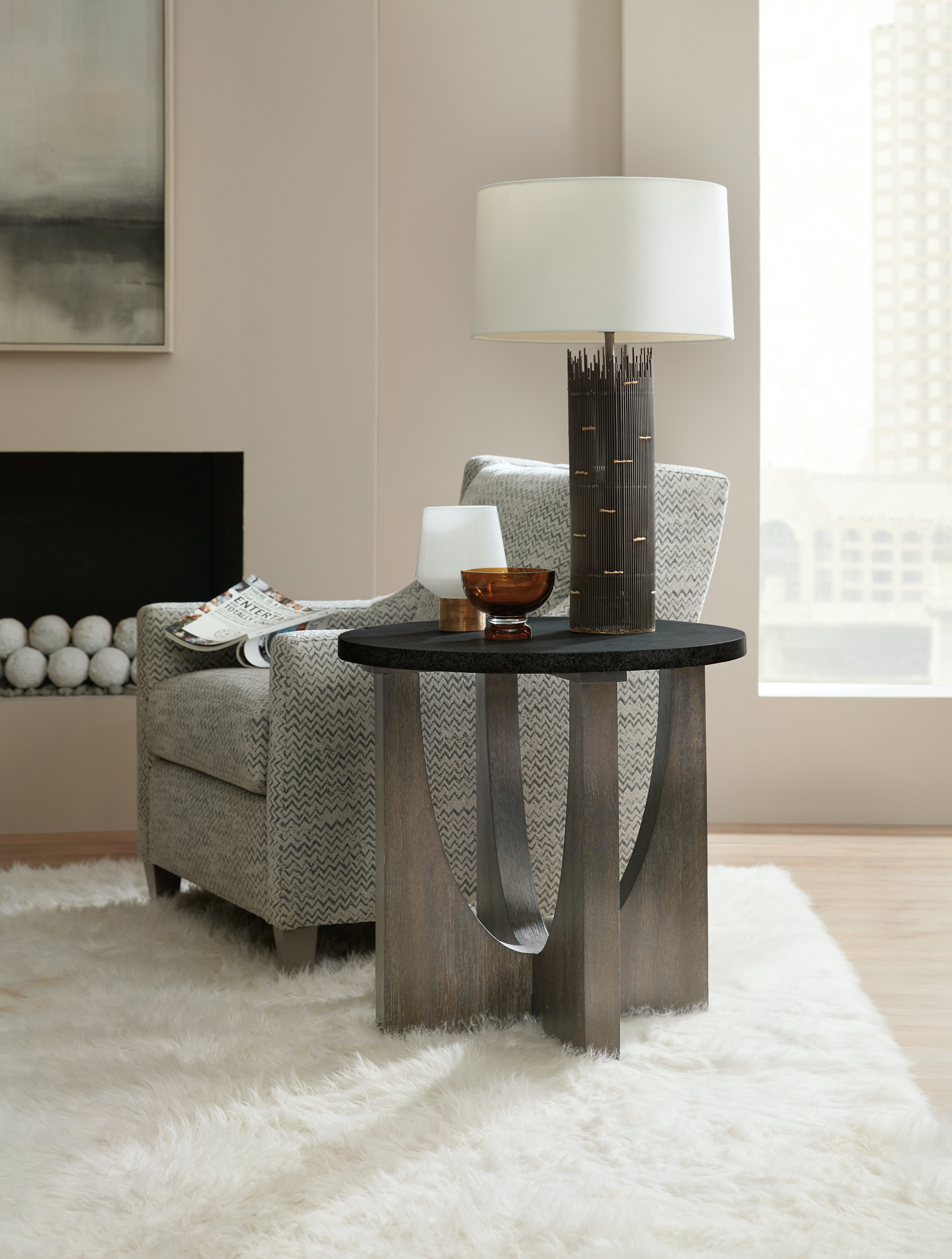 Hooker Furniture Miramar Aventura Tomasso Round End Table HS620280113DKW  From Walter E. Smithe Furniture +