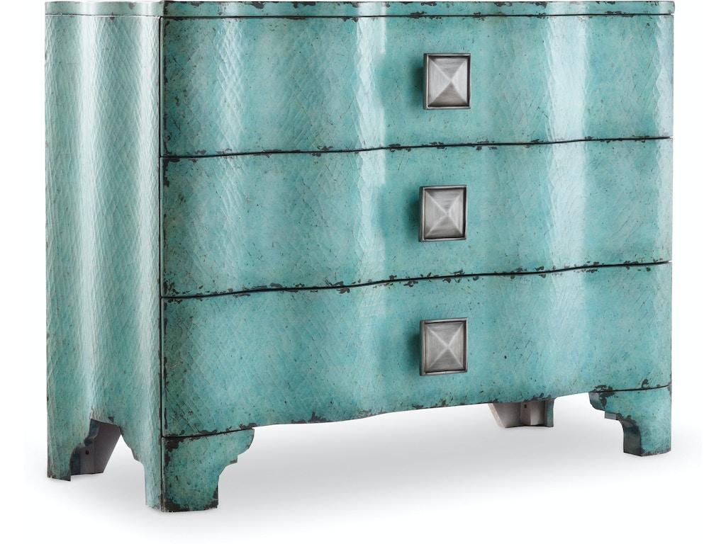 Hooker Furniture Living Room Melange Turquoise Crackle