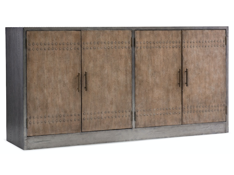 Hooker Furniture Melange Cooper Four-Door Credenza 638-85283-LTBR