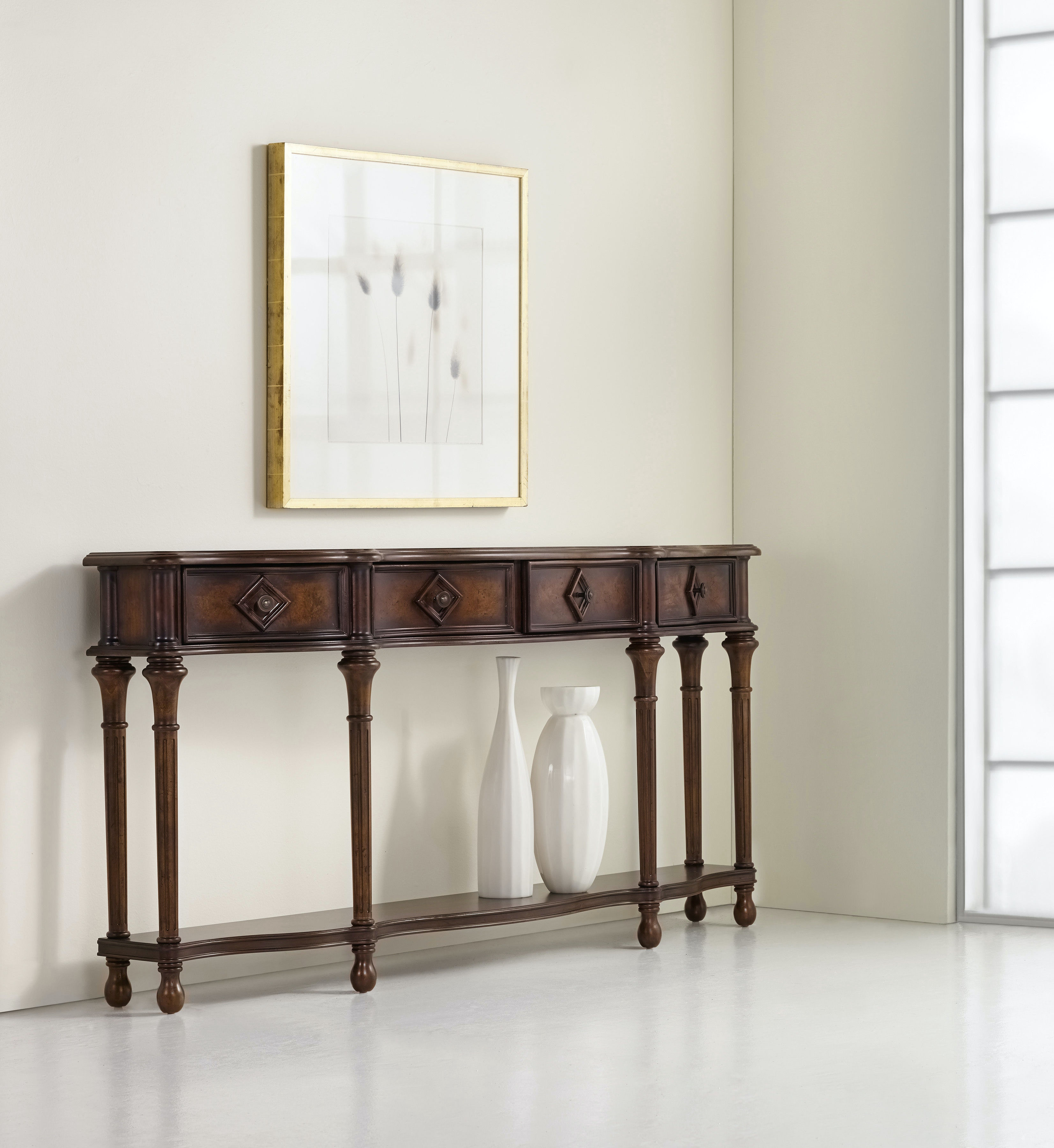 """Hall Console hooker furniture living room 72"""" hall console 963-85-122"""