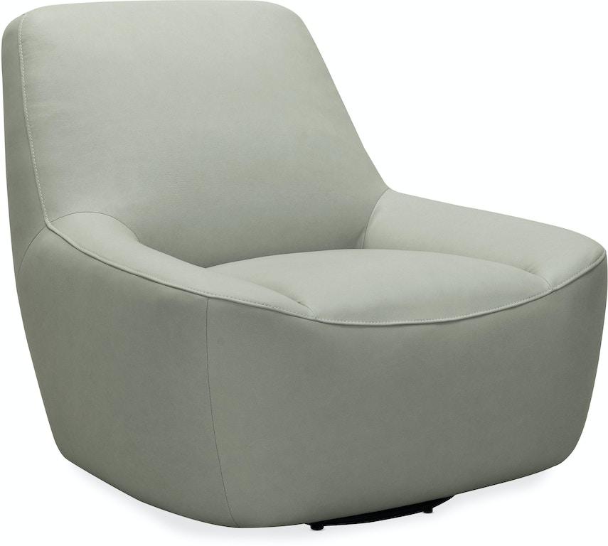 Hooker Furniture Living Room Maneuver Leather Swivel Chair ...