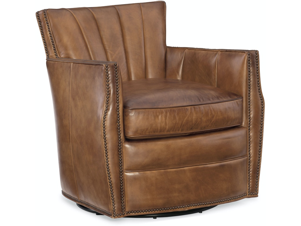 Hooker Furniture Living Room Carson Swivel Club Chair Cc492 Sw 083 Klopfenstein Home Rooms