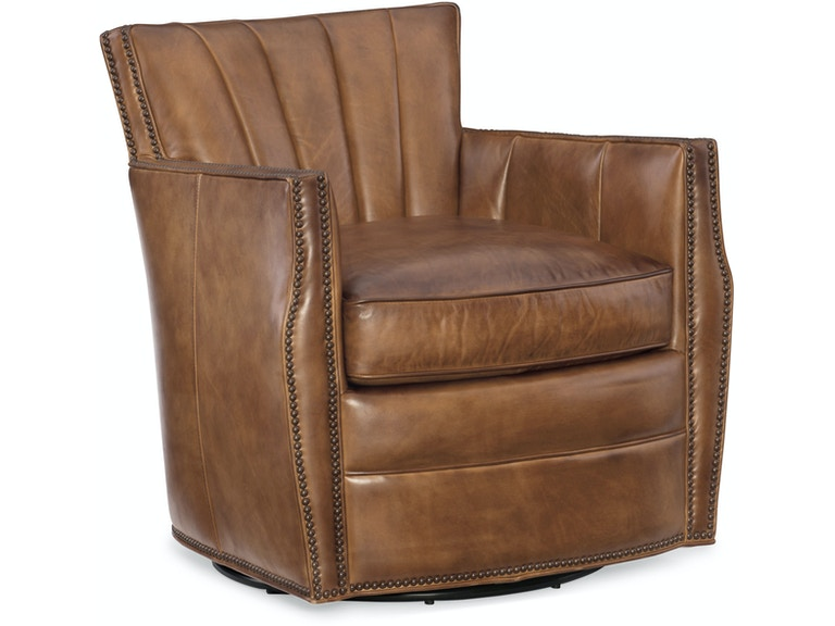 Hooker Furniture Living Room Carson Swivel Club Chair Cc492 Sw 083
