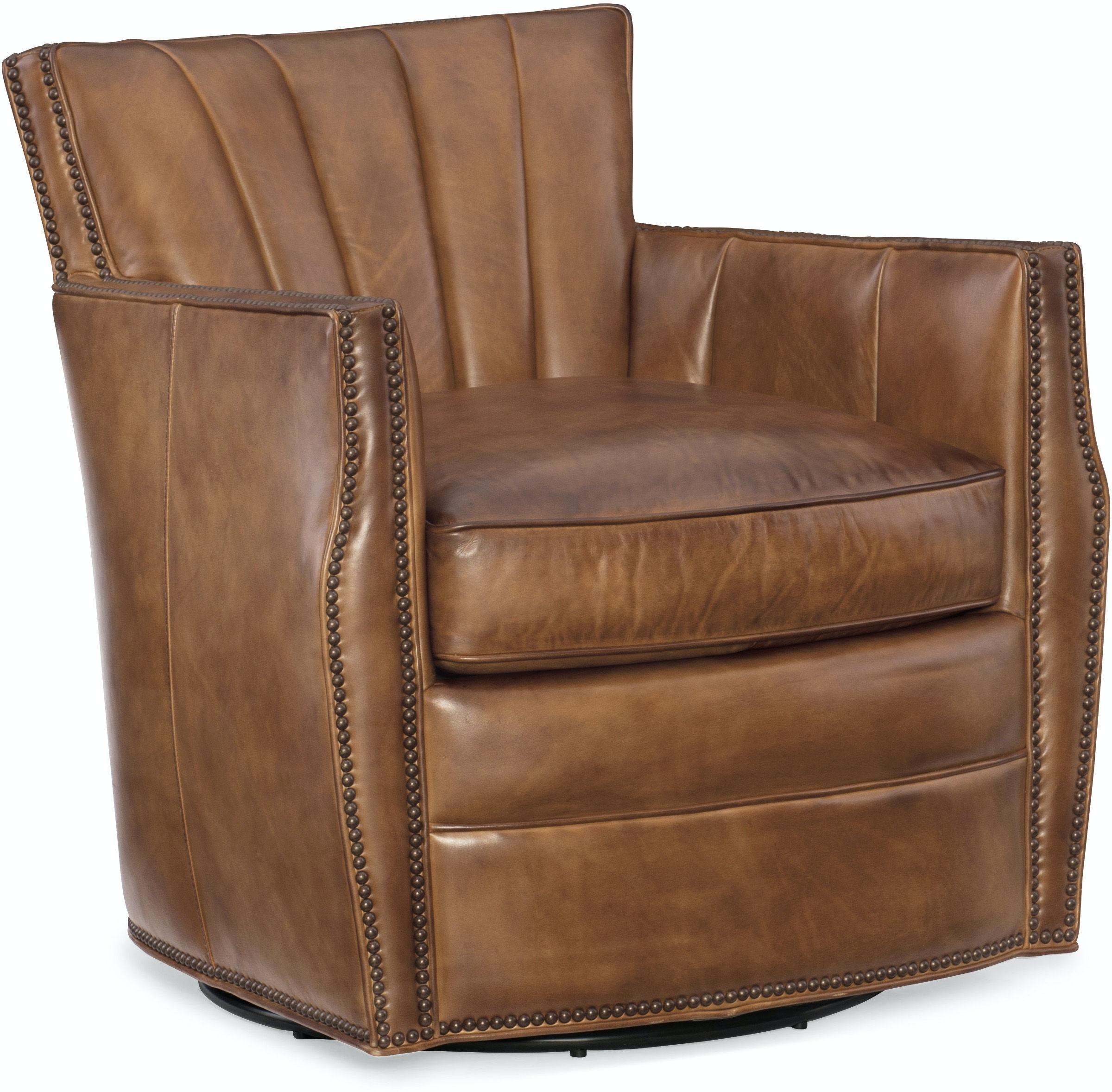 Hooker Furniture Living Room Carson Swivel Club Chair CC492-SW-083