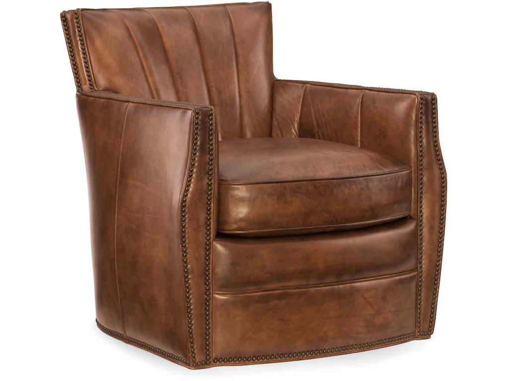 Hooker Furniture Living Room Carson Swivel Club Chair