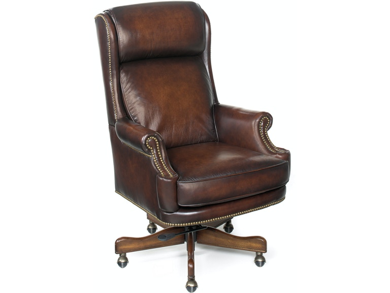 leather home office chair hooker furniture home office kevin executive swivel tilt 16641 | ec293 silo