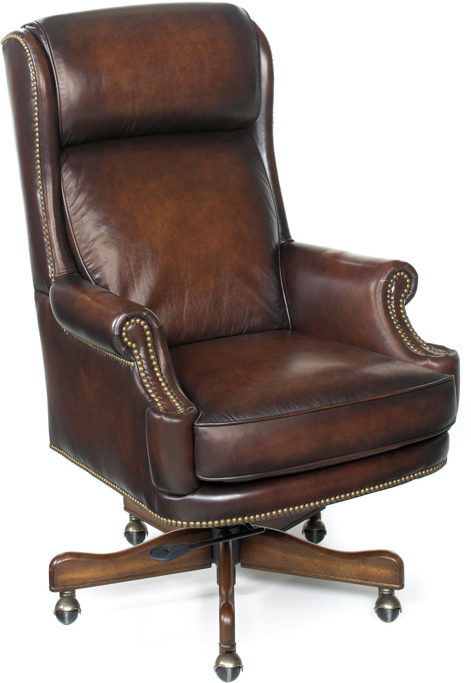 Hooker Furniture Home Office Kevin Executive Swivel Tilt Chair HSEC39  Walter E. Smithe Furniture + Design