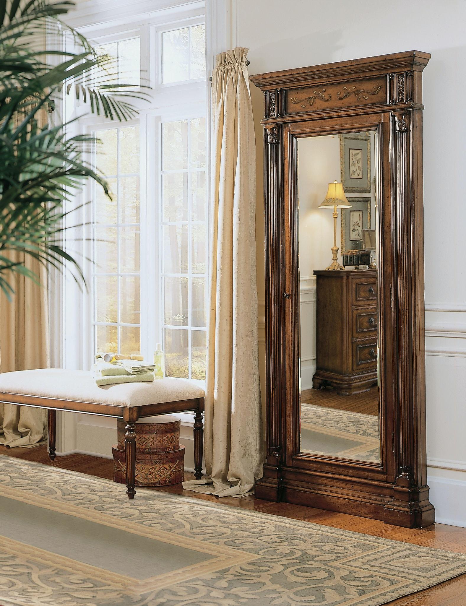 hooker furniture floor mirror wjewelry armoire storage . hooker furniture accents floor mirror wjewelry armoire storage
