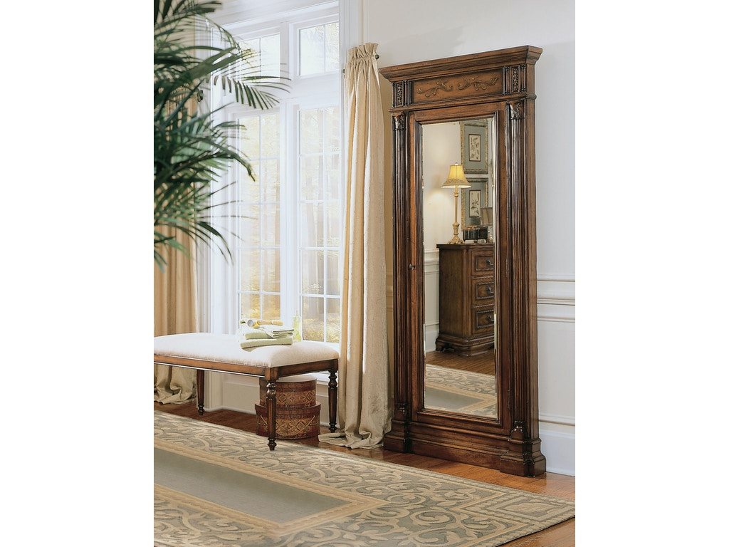 hooker furniture accessories floor mirror w jewelry armoire storage 500 50 558 charter. Black Bedroom Furniture Sets. Home Design Ideas