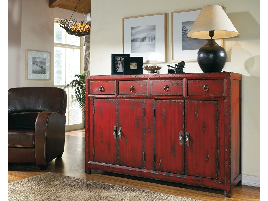 Hooker furniture living room 58 red asian cabinet 500 50 for Oriental furniture nj