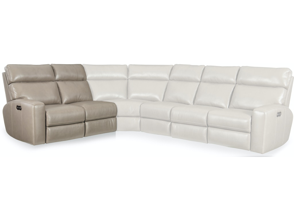 Hooker Furniture Living Room Mowry 4 Piece Power Sectional