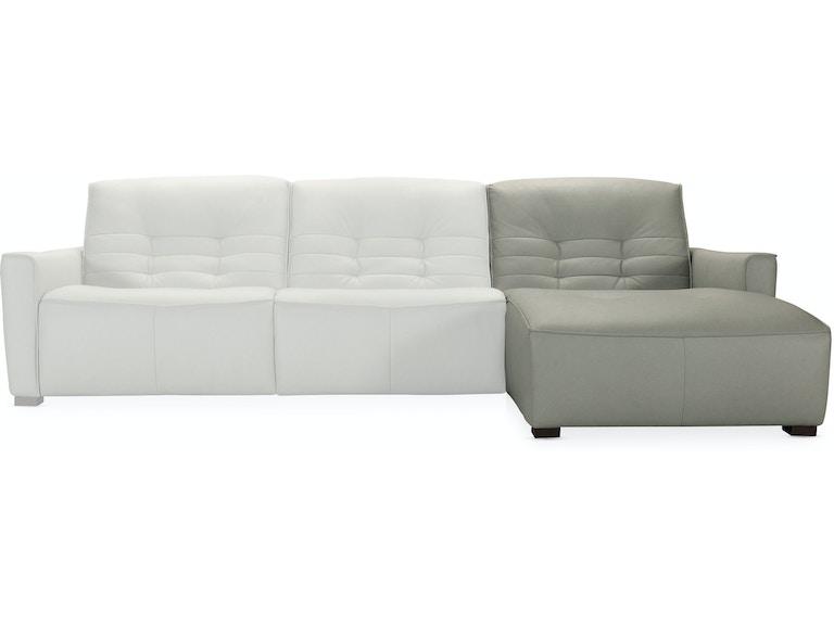 Hooker Furniture Living Room Reaux Power Recline Sofa W
