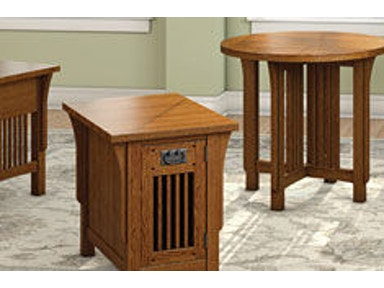 A A Laun Furniture Chairside Table w/Door 8406-04
