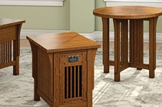 A A Laun Furniture Chairside Table W/Door 8406 04