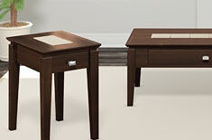 High Quality A A Laun Furniture Chairside Table W/Drawer 440D 11 71