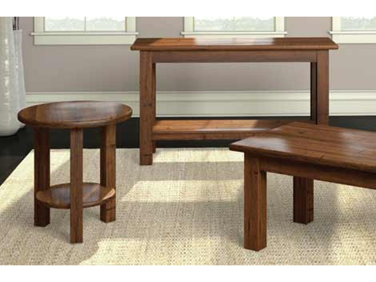 A A Laun Furniture Living Room Round Accent Table 7607 13 American