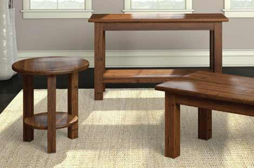 A A Laun Furniture Living Room Round Accent Table 7607-13 ...