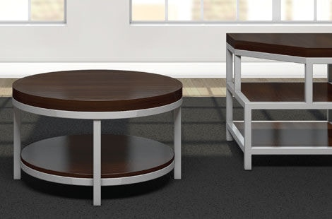 Charmant A A Laun Furniture Round Cocktail Table 120S 11 63