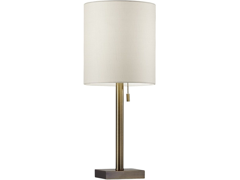 Adesso Lamps And Lighting Liam Table Lamp 1546 22 At Dewey Furniture
