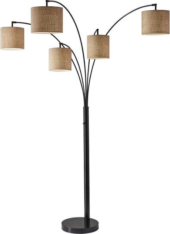 Adesso Lamps And Lighting Trinity 5 Arm Arc Lamp 4239 26
