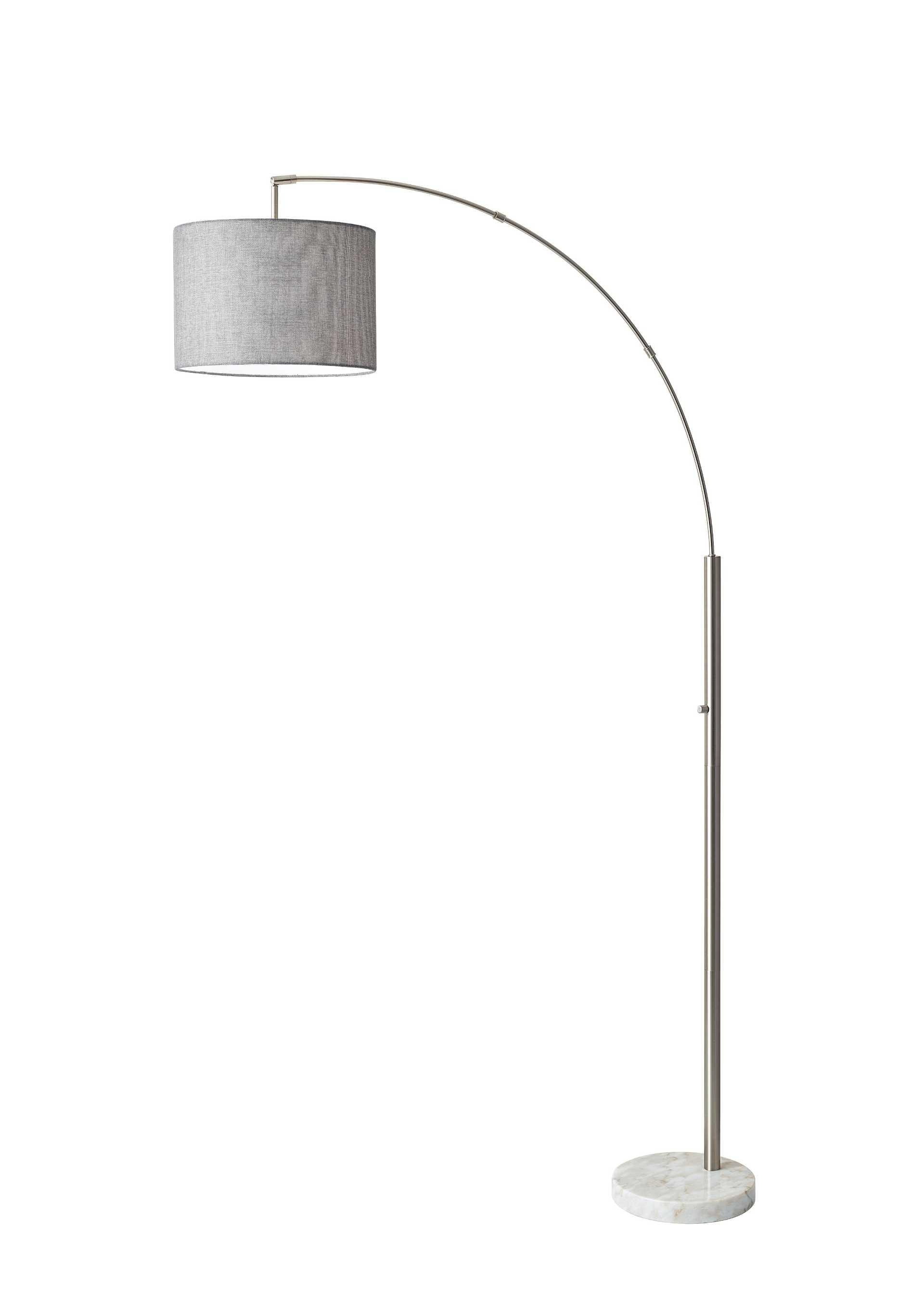 Adesso Lamps And Lighting Bowery Arc Lamp 4249 22 At Dewey Furniture