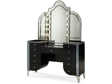 Aico Amini Innovations Upholstered Vanity 03058-81