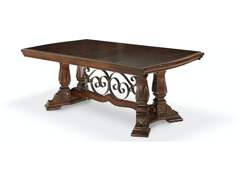 Aico Amini Innovations Decorative Metal With Wood Table Base Ama70002ms54 From Walter E Smithe Furniture