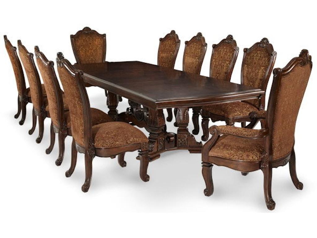 Aico Amini Innovations Dining Room Rectangle Table Base Ama70002b54 Walter E Smithe Furniture Design