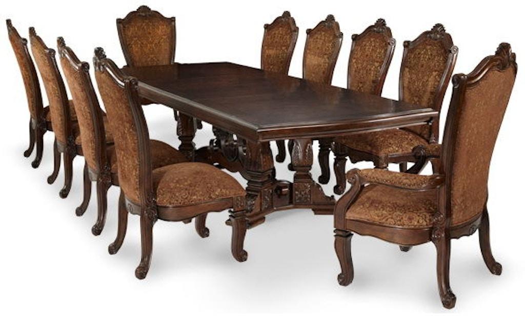 Michael Amini Dining Room Rectangle Dining Table Base 70002b 54 Carol House Furniture Maryland