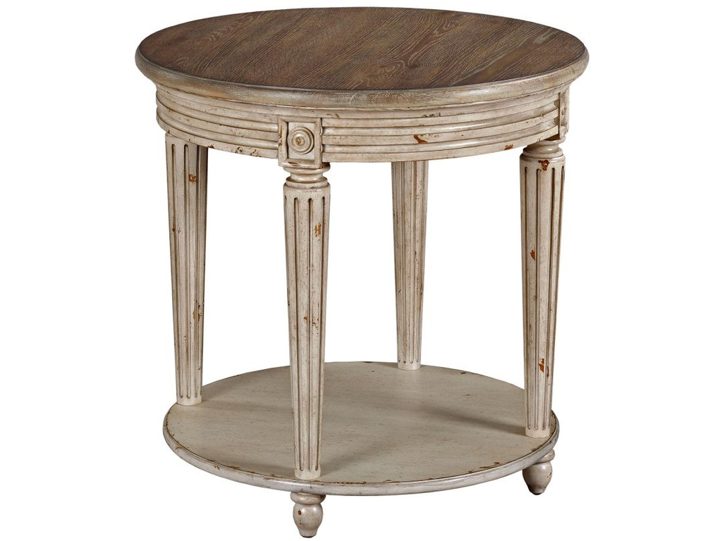 American Drew Living Room Round End Table 513 916 Seaside Furniture Toms River Brick And