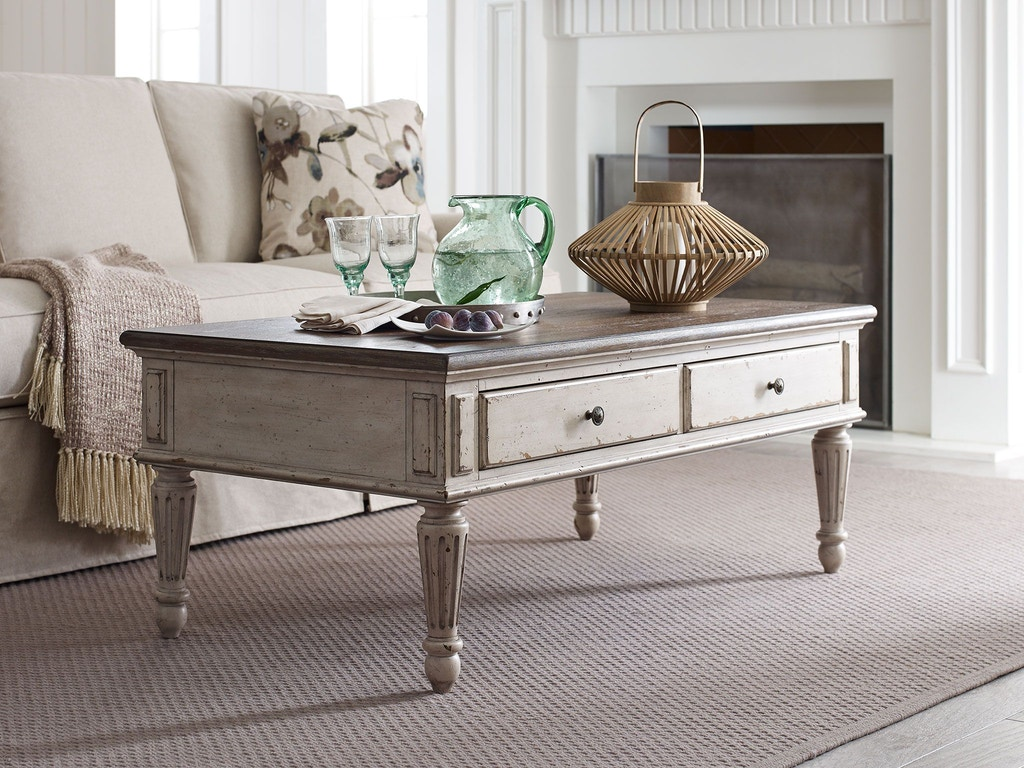 American Drew Living Room Rectangular Cocktail Table 513 910 Finesse Furniture Interiors