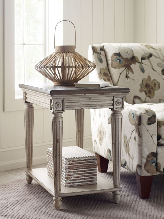 American Drew Living Room Charging Chairside Table 513 918 Seaside Furniture Toms River