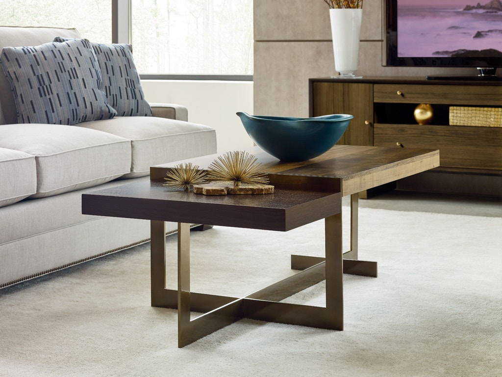 American Drew Living Room Ogden Rectangular Cocktail Table 600 910 Norwood Furniture