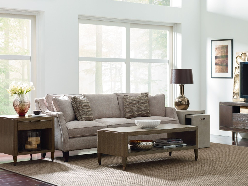 American Drew Living Room Dixon Drawer End Table 603 915 Finesse Furniture Interiors