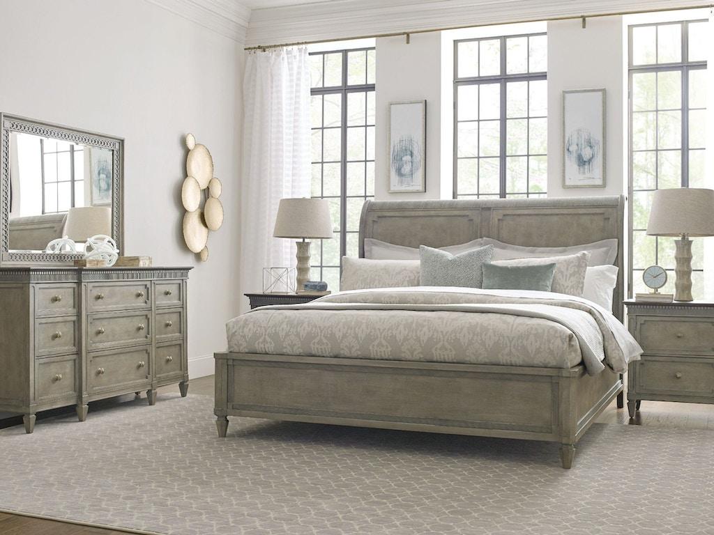 American Drew Bedroom Queen Anna Sleigh Bed 5 0 Complete