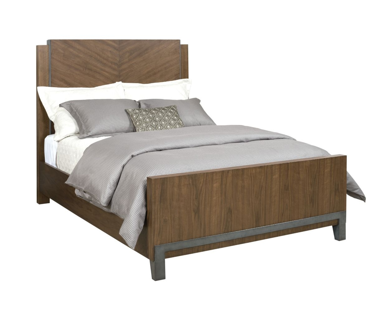 American Drew Chevron Walnut Queen Bed Package 700 312R