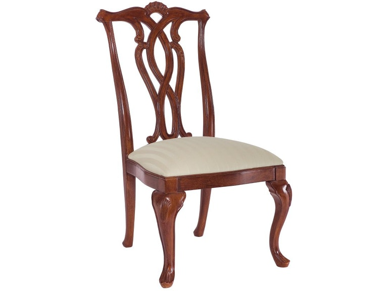 American Drew Dining Room Pierced Back Side Chair 792 654 At Carol House Furniture