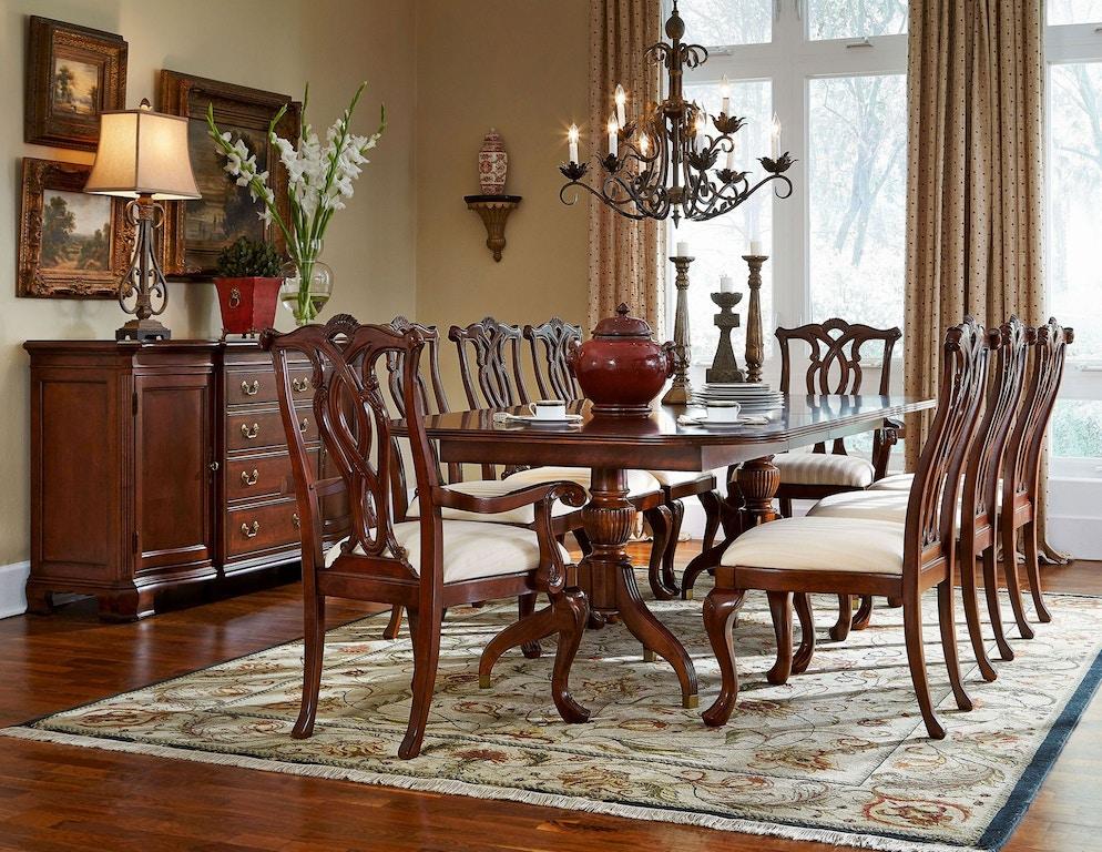 American Drew Dining Room Pedestal Table 792 744r Burke