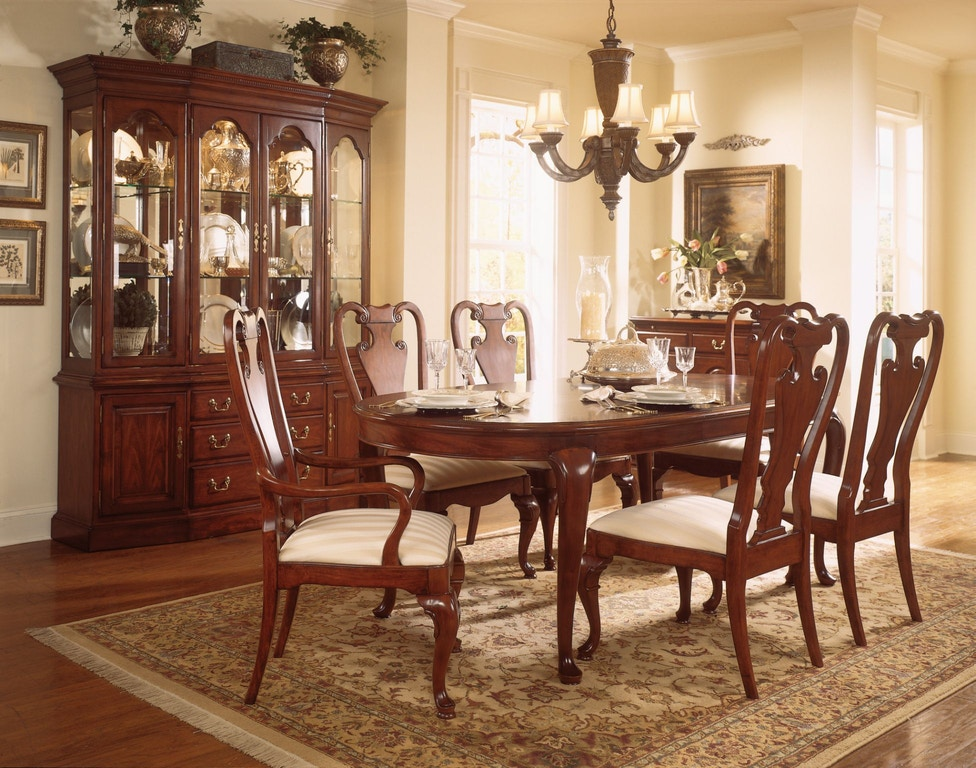 American Drew Dining Room Oval Dining Table 792 760