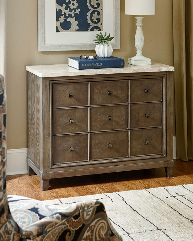 American Drew Living Room Apothecary Hall Chest 488 945 Gibson Furniture Andrews Nc