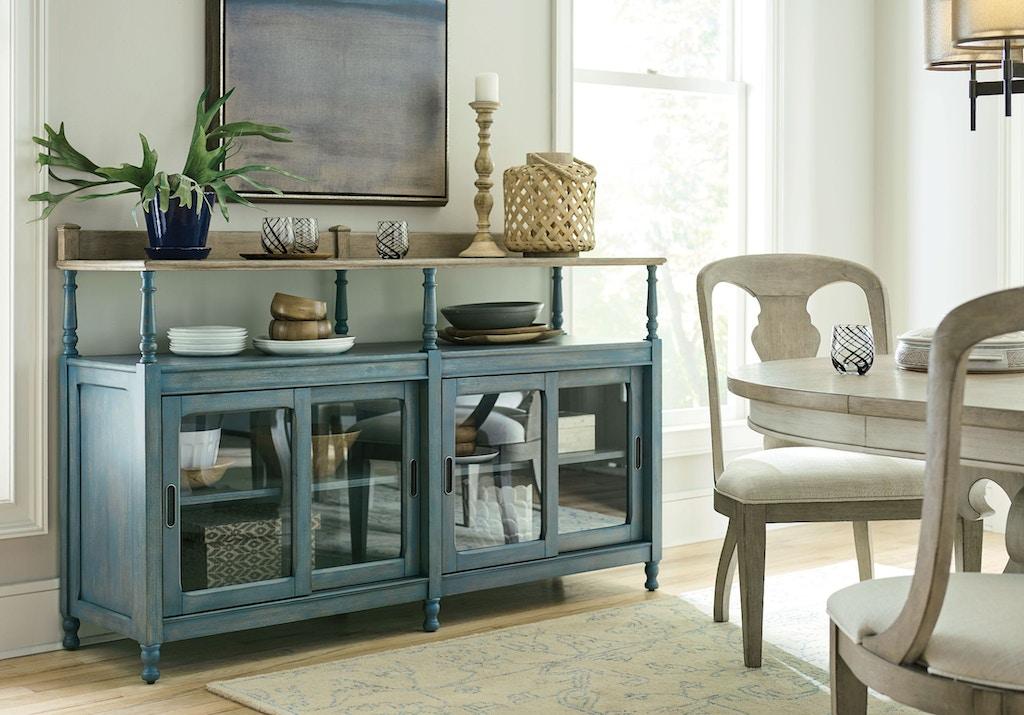 American Drew Dining Room Dorset Credenza Blue 750 858b