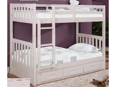 Twin Bunk Bed 0210 Ttw Kids Bedroom American Furniture Clics