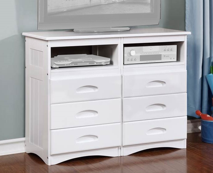 Superieur American Furniture Classics Entertainment Dresser With Six Drawers And Two  Component Areas 0271