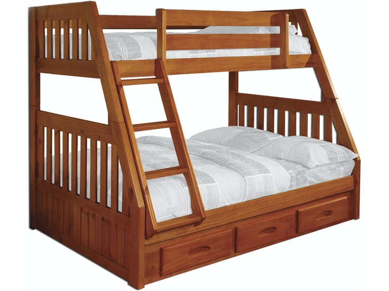 American Furniture Clics Bedroom Twin Full Bunk Bed 2118 Tfh At Aaron S Fine