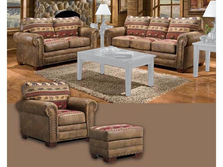 American Furniture Clics Living Room Sierra Lodge 4 Piece Set 8500 10k At Aaron S Fine