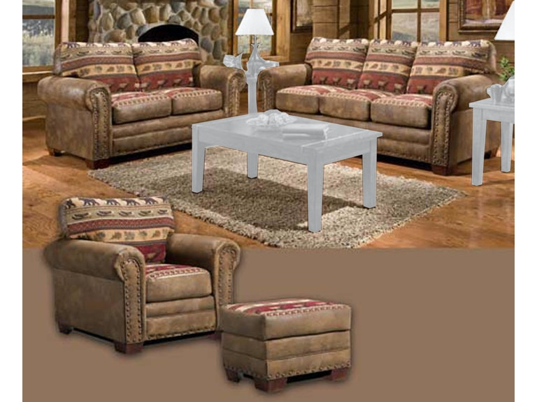 American Furniture Clics Sierra Lodge 4 Piece With Sleeper Sofa 8500 10s